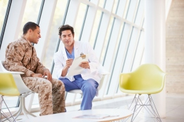 Doctor Counseling Soldier